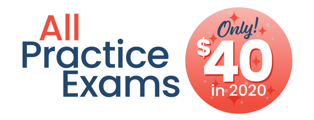 All Practice Exams $40 in 2020